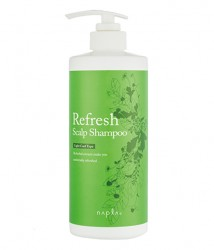 Освежающий шампунь Napla Refresh Scalp Light Cool Type Shampoo 650мл 1
